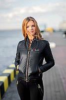 Черная стеганная курточка., фото 1