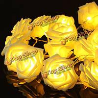 20 LED романтические розы цветочная фея строку света для свадебного банкета