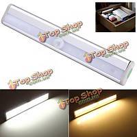 10 LED Свет датчика движения PIR для шкафа шкаф книжный шкаф лестница