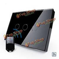 Livolo черное хрустальное стекло сенсорный и дистанционный выключатель вл-c303r-82 Электропитание ac110-250В