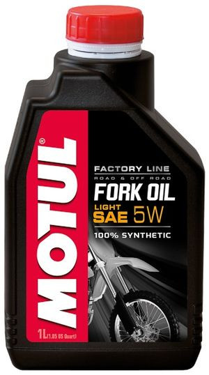 Вилочное масло MOTUL FORK OIL LIGHT FACTORY LINE  5W 1л (821801)