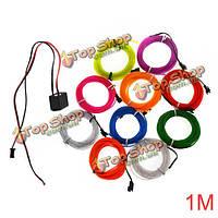 1м 10 цветов 12V гибкий неоновый свет El провода Танцевальная вечеринка декор свет