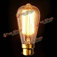 В22 st64 110В/220В 40Вт накаливания стиле Винтаж Эдисон лампочку накаливания