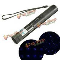 303 405 нм фиолетовый свет высокой мощности регулируемый лазерный указатель +ключи