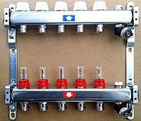 Коллектор на 4 вых. с рассходомером, дренажем, воздухоотводчиком 917D  ITAP