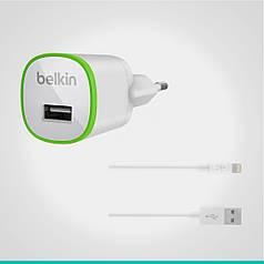 СЗУ Belkin с 1 USB выходом + кабель Lightning