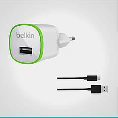 СЗУ Belkin с 1 USB выходом + кабель MicroUSB
