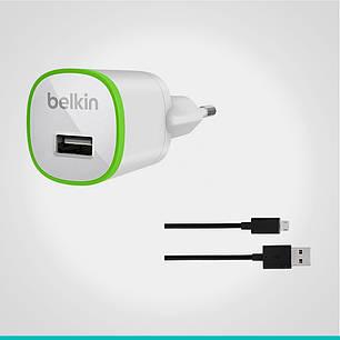СЗУ Belkin с 1 USB выходом + кабель MicroUSB, фото 2