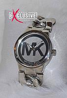 """Наручные часы в стиле """"Майкл Корс"""" браслет- цепь, серебристые., фото 1"""