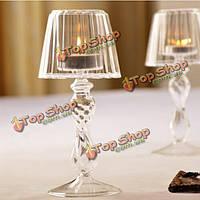 Хрустальное стекло держатель tealight свеча настольный светильник украшения дома