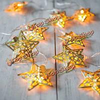 Гирлянда светодиодная металлические звездочки 4 метра