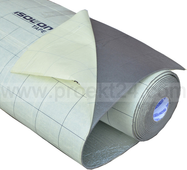 Изолон фольгированный самоклеющийся 5мм (Isolontape 300 LA, химически сшитый)