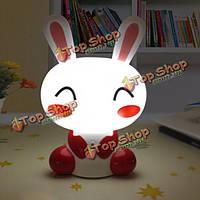Новинка мультфильм кролик LED ночной светильник для детской постели