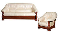 Классическая кожаная мебель Монарх (3р+1)