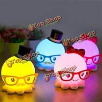 LED по USB мило осьминог ночник энергосберегающий детские спальни светильника подарок