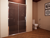 Душевая дверь Koller Pool Waterfall Line HP120X профиль хром, стекло прозрачное