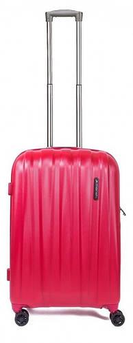 4-колесный пластиковый малый чемодан 40 л. MARCH Rocky 3653/82 красный/серый