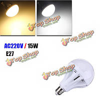 Е27 15Вт 55 СМД 2835 чисто белый/теплый белый LED глобус света Лампа 220В
