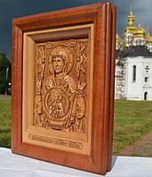 Икона деревянная резная Знамение Пресвятой Богородицы  (Божией Матери), фото 1