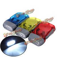 3 LED Динамо ветра до ручной клавишей crank фонарик