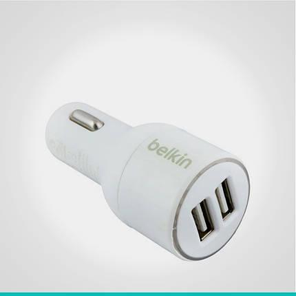 Автомобильное зарядное устройство Belkin 2 USB-порта, фото 2