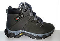 Ботинки подростковые Ecco зимние кожаные E0023