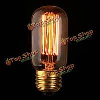 Е27 60Вт старинные антикварные Эдисон лампочку накаливания прозрачное стекло 220В/110В