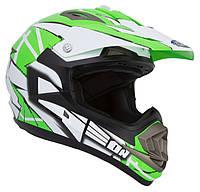 Шлем GEON 614 Кросс MX-Spirit Neon Green, фото 1