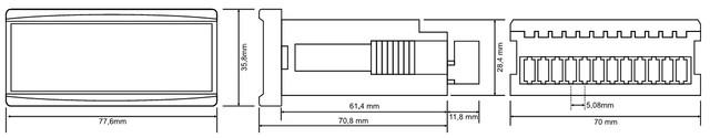 Габаритные размеры амперметра