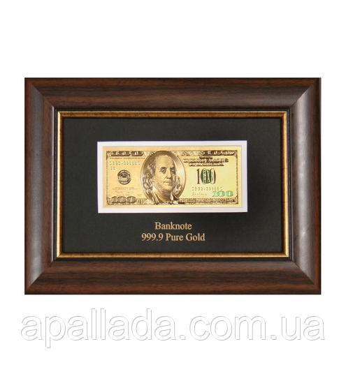 Панно банкнота 100 usd (доллар) США