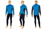 Велокостюм PALTHER NA-LP-1393 (термокуртка длин.рукав, велоштаны, р-р XL-2XL, черно-синий)