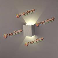 Современные серебряные 3вт LED площадь поверхности настенного светильника установка светильника