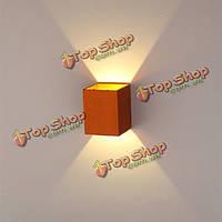 Современные золотые 3вт LED площадь поверхности настенного светильника установка светильника
