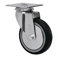 Аппаратные колеса на резиновом ходу поворотные Light с крепежной панелью Ø 50,75,100,125мм, Житомир