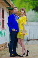 Мужская вышиванка и женское платье в национальном стиле