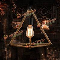 Треугольник веревкой люстра промышленные подвесные потолочного светильника свет 220V