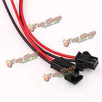 2pin мужской женский кабельный разъем провода для одного цвета привело полосы