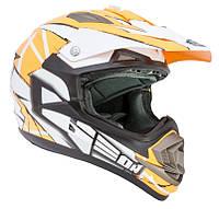 Шлем GEON 614 Кросс MX-Spirit Neon Orange, фото 1