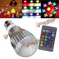 В22 9вт гамма AC 85-265в LED волшебная Лампа лампы с ИК пульт дистанционного