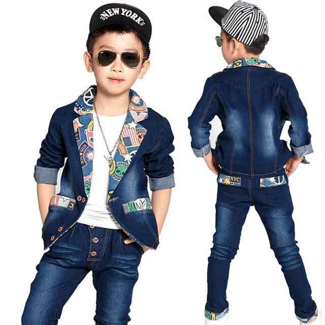 Детская джинсовая одежда для девочек и мальчиков оптом