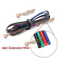 1м 4-контактный LED удлинитель провода кабель кабель для RGB полосы света