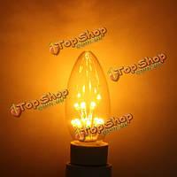 Лампа E14 1W теплый белый ретро Эдисон энергосберегающая свеча Лампа 220В