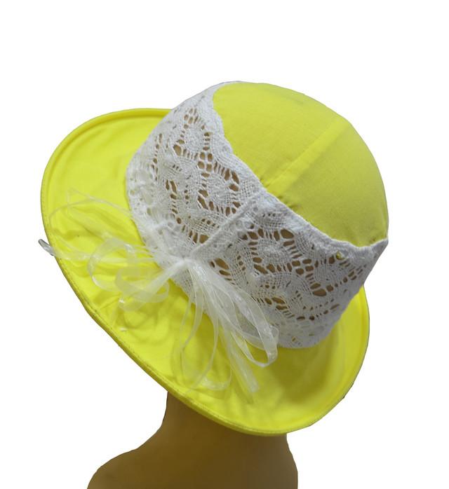 Детская шляпка Ялта желтая