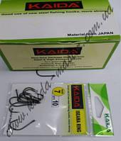 Крючки зеленые Kaida размер 6, рыболовные одинарные крючки, крючки для рыбалки на карпа, крючки для удочки