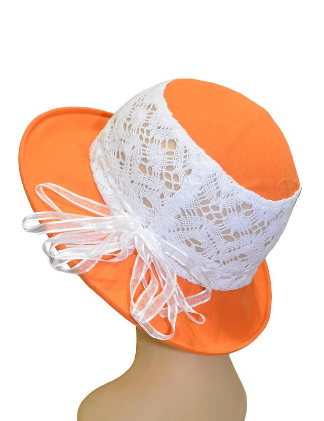 Детская шляпка Ялта оранжевая