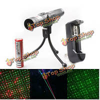 Adjustable 532nm 650nm Green Red Beam Laser Pointer Suit(1mw 5mw)