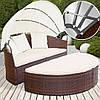 Большая раскладная кровать из ротанга