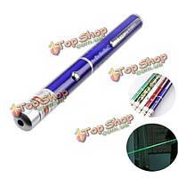 Один 532нм зеленый лазерный указатель ручки 1 МВт/5 МВт 2 АА 5-Цвет