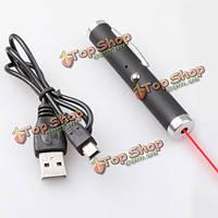5 МВт 650 нм USB зарядка Красный Луч лазерная указка 500-10000м