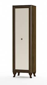 Пенал Парма 1Д 1995х560х400мм дуб сонома темный + крем глянец   Мебель-Сервис
